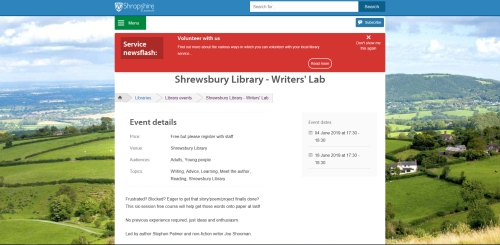 writers lab Shrewsbury